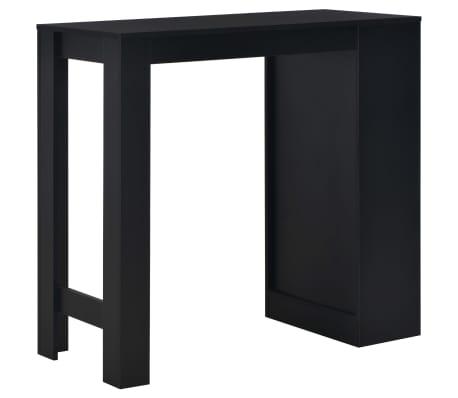 vidaXL Bartafel met schap 110x50x103 cm zwart[3/6]