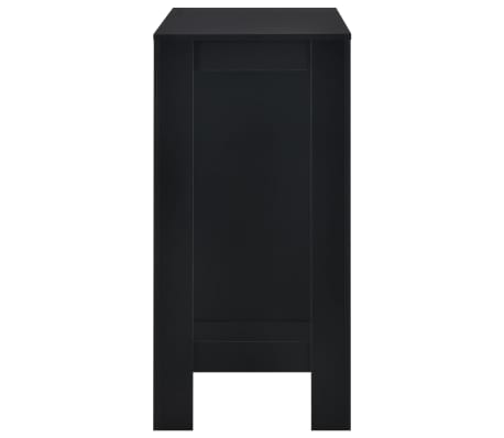 vidaXL Bartafel met schap 110x50x103 cm zwart[4/6]