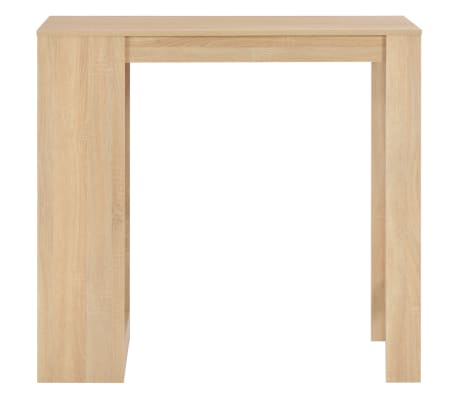 vidaXL Baro stalas su lentyna, ąžuolo sp., 110x50x103cm[2/6]