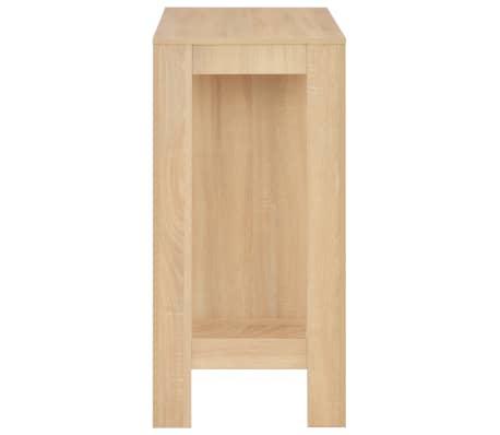 vidaXL Baro stalas su lentyna, ąžuolo sp., 110x50x103cm[4/6]