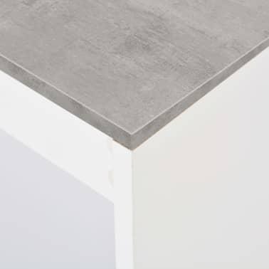vidaXL Baro stalas su lentyna, baltas, 110x50x103cm[5/6]