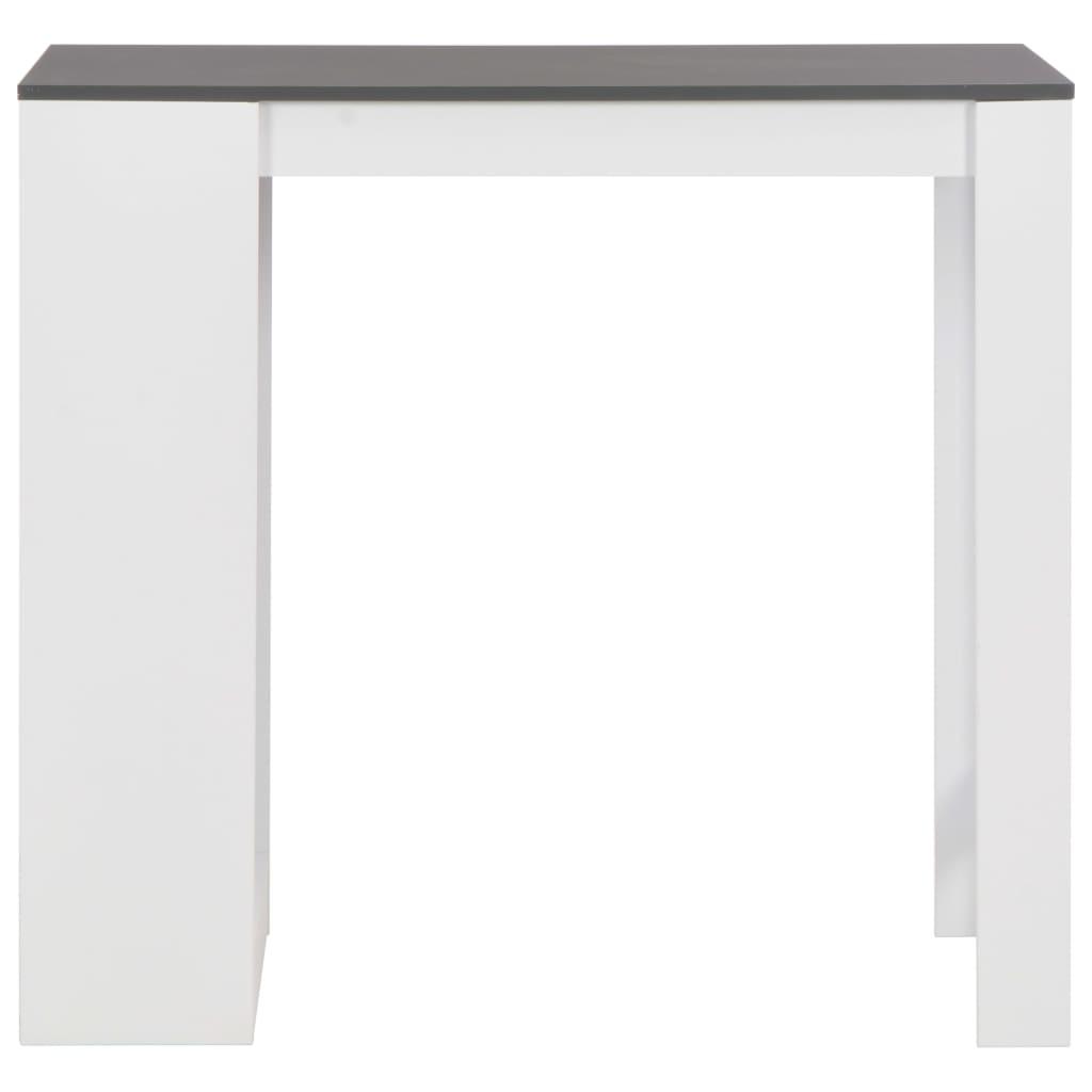 vidaXL Bartafel met schap 110x50x103 cm wit