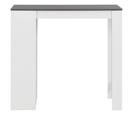 vidaXL Baro stalas su lentyna, baltas, 110x50x103cm[2/6]