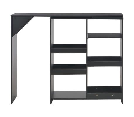 vidaXL Baro stalas su judinama lentyna, juodos sp., 138x40x120cm[2/6]
