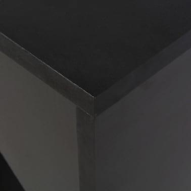 vidaXL Baro stalas su judinama lentyna, juodos sp., 138x40x120cm[5/6]