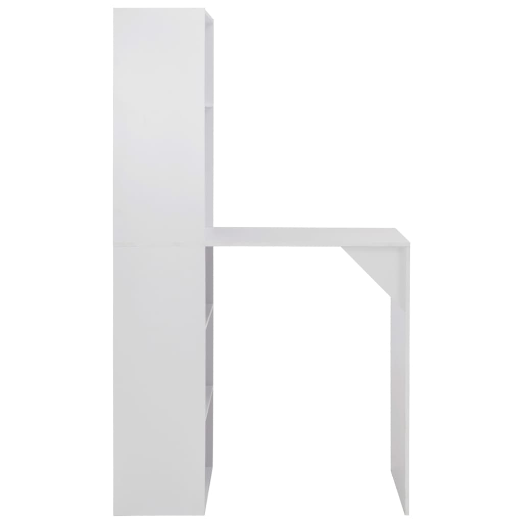 vidaXL Bartafel met kast 115x59x200 cm wit