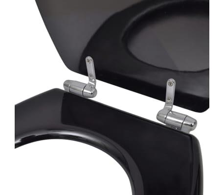 vidaXL WC sedadlá s vekami s mäkkým zatváraním 2 ks čierne MDF[6/9]