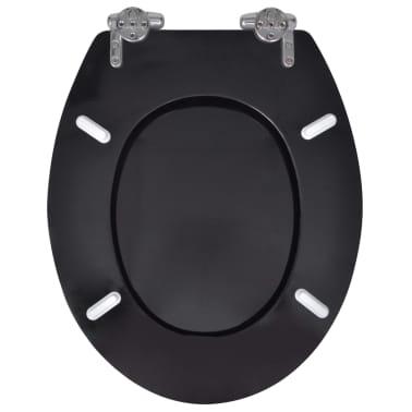vidaXL WC sedadlá s vekami s mäkkým zatváraním 2 ks čierne MDF[5/9]