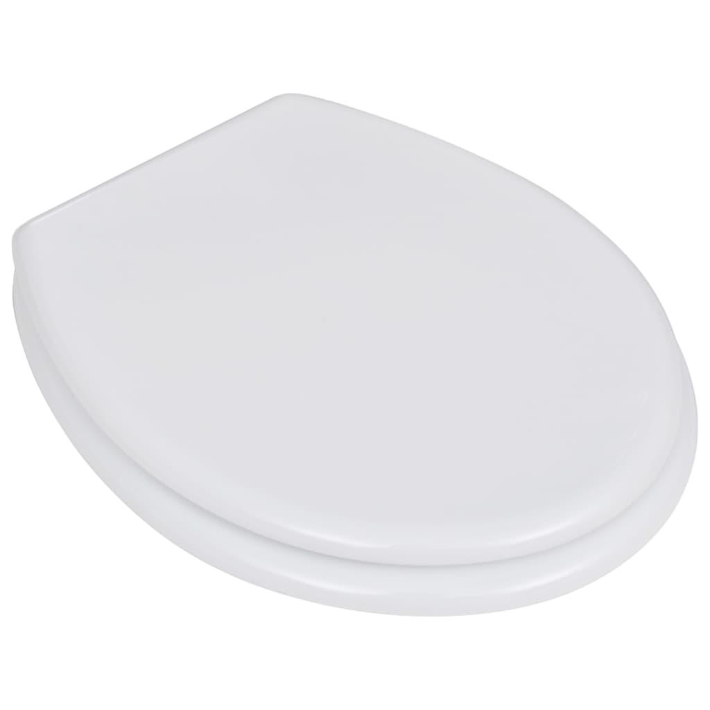 vidaXL Toiletbrillen met hardclose deksels 2 st MDF wit