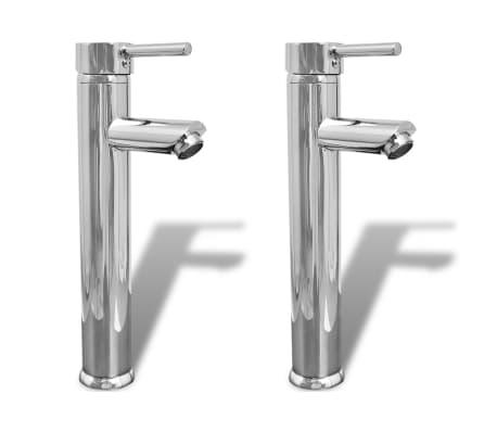 vidaXL Смесители за баня, 2 бр, хром