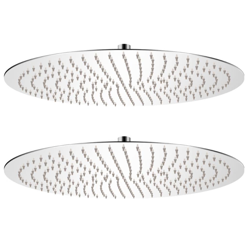 vidaXL Cap de duș tip ploaie, 2 buc., Ø 50 cm, oțel inoxidabil poza vidaxl.ro