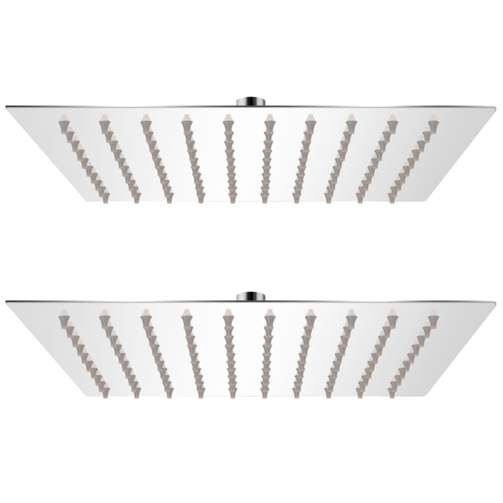vidaXL Cap de duș tip ploaie, 2 buc., 20 x 20 cm, oțel inoxidabil vidaxl.ro