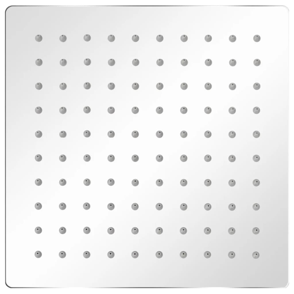 vidaXL Regendouchekoppen 2 st 20x20 cm roestvrij staal