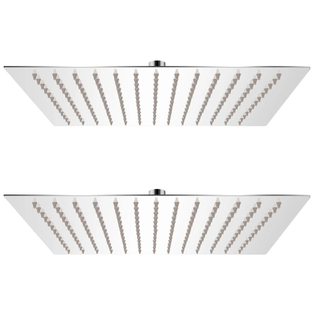 vidaXL Cap de duș tip ploaie, 2 buc., 25 x 25 cm, oțel inoxidabil poza vidaxl.ro