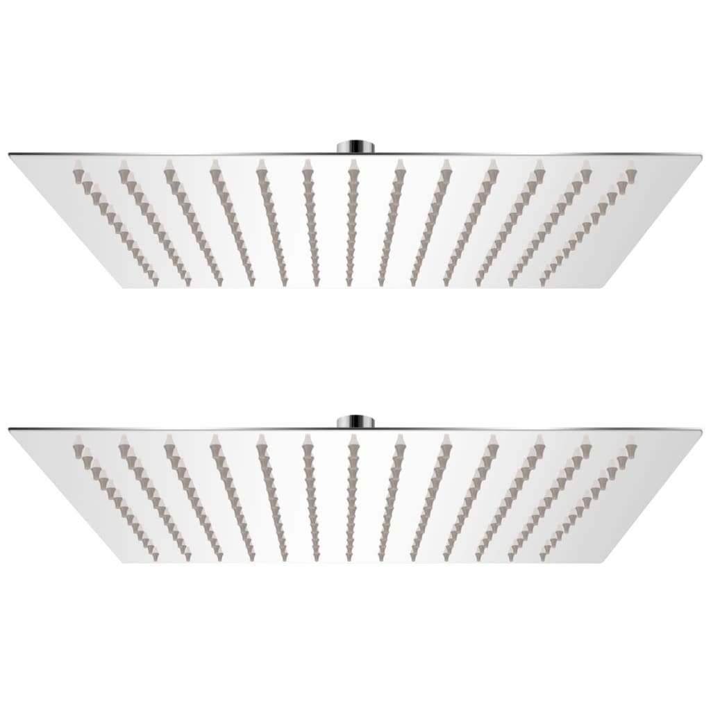 vidaXL Cap de duș tip ploaie, 2 buc., 30x30 cm, oțel inoxidabil vidaxl.ro