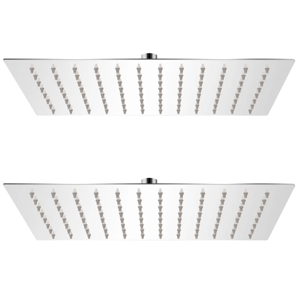 vidaXL Cap de duș tip ploaie, 2 buc., 20 x 30 cm, oțel inoxidabil poza 2021 vidaXL