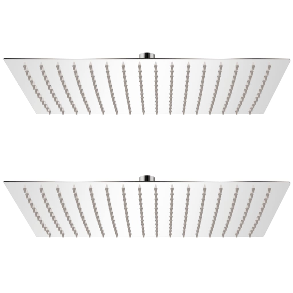 vidaXL Cap de duș tip ploaie, 2 buc., 30 x 40 cm, oțel inoxidabil poza vidaxl.ro