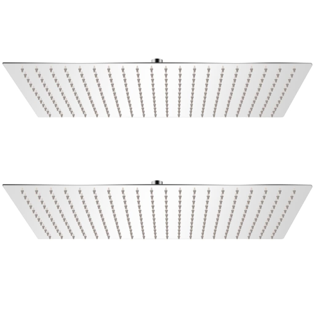 vidaXL Cap de duș tip ploaie, 2 buc., 30 x 50 cm, oțel inoxidabil vidaxl.ro
