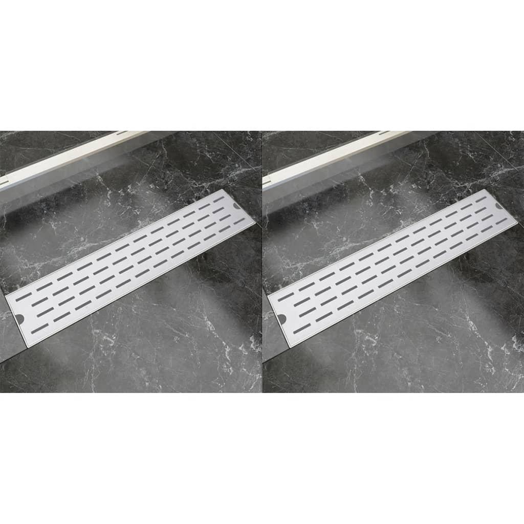 Rovný sprchový odtokový žlab 2ks linky 530x140mm nerezová ocel
