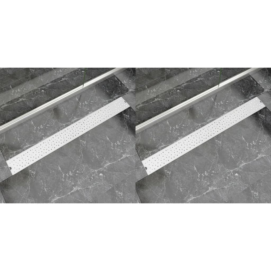 Rovný sprchový odtokový žlab 2ks Bubble 1030x140mm nerez. ocel