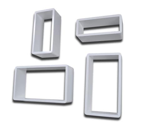 vidaXL Prateleiras de parede em forma de cubo 8 pcs branco