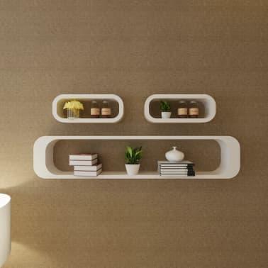 vidaXL Wall Cube Shelves 6 pcs White[3/7]