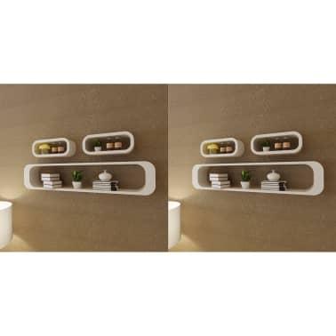 vidaXL Wall Cube Shelves 6 pcs White[1/7]