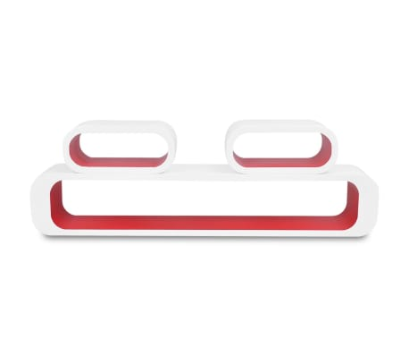 vidaXL Wall Cube Shelves 6 pcs Red and White[4/6]