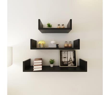 vidaXL Wall Shelves 6 pcs Black[3/5]