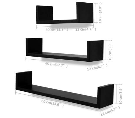 vidaXL Wall Shelves 6 pcs Black[5/5]