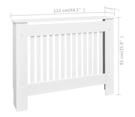 vidaXL Cache-radiateurs 2 pcs Blanc MDF 112 cm[4/4]