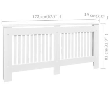 vidaXL Cache-radiateurs 2 pcs Blanc MDF 172 cm[4/4]