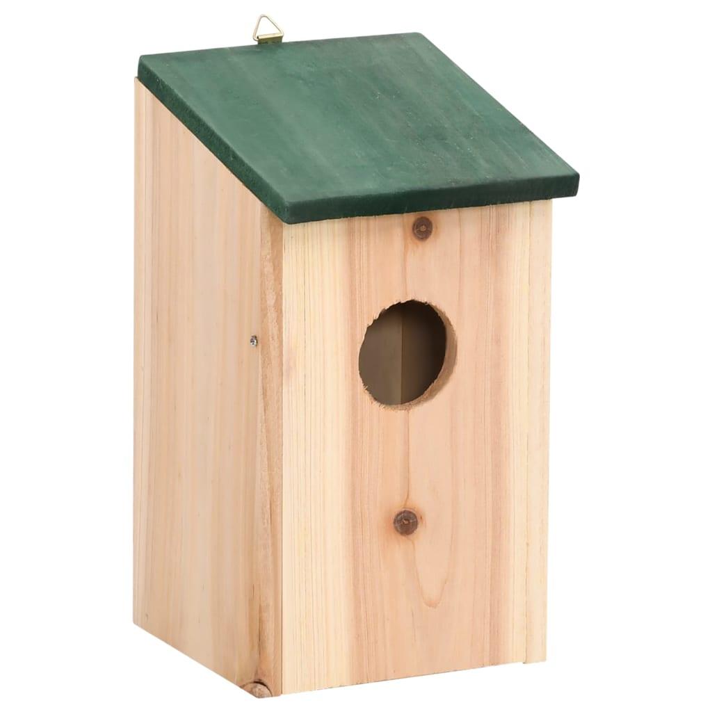 99276006 Vogelhäuser 4 Stk. Holz 14 x 15 x 22 cm