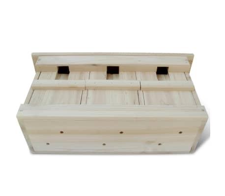 vidaXL Case de vrăbii, 2 buc., 44 x 15,5 x 21,5 cm, lemn[2/4]