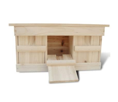 vidaXL Case de vrăbii, 2 buc., 44 x 15,5 x 21,5 cm, lemn[3/4]