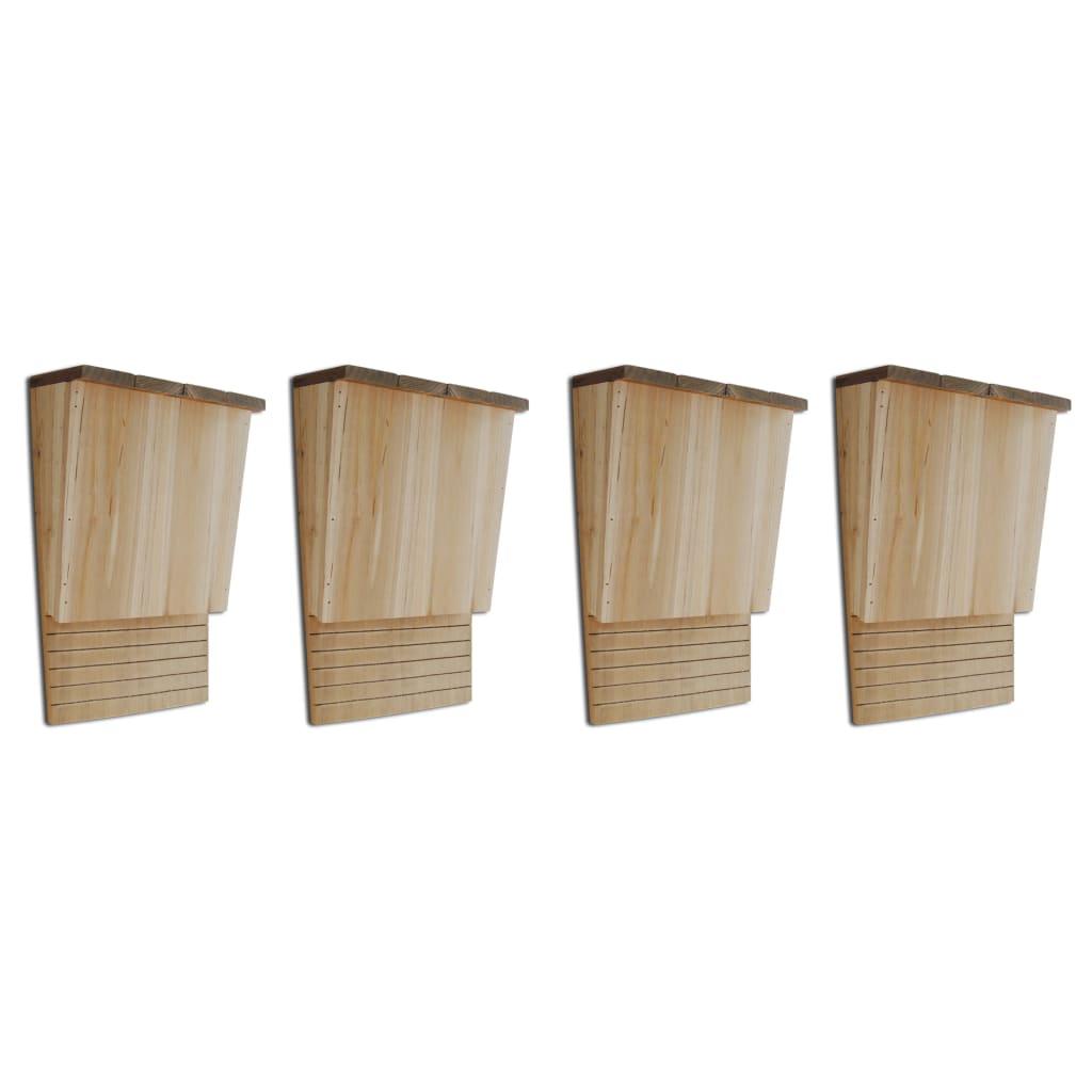 Budka pro netopýry 4 ks 22 x 12 x 34 cm dřevěná