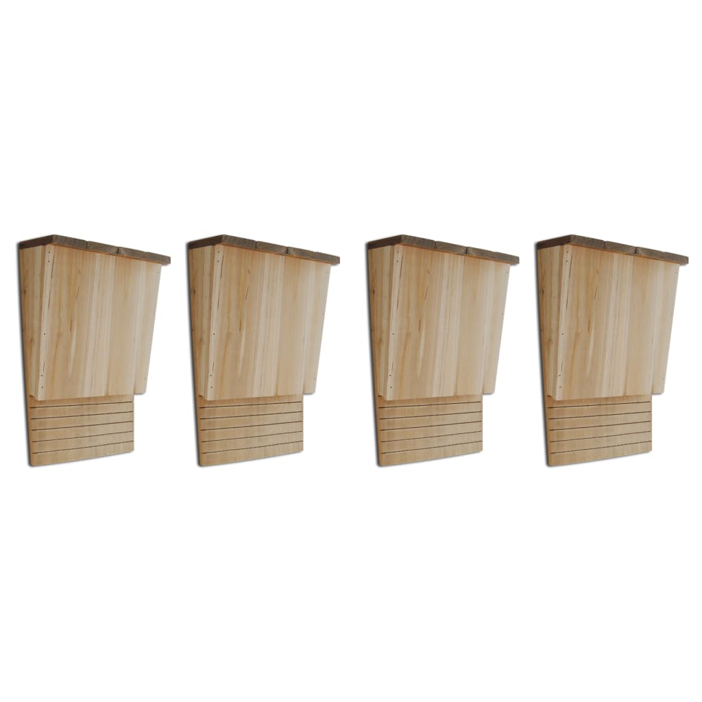 vidaXL Căsuțe de lilieci, 4 buc., 22 x 12 x 34 cm, lemn poza 2021 vidaXL