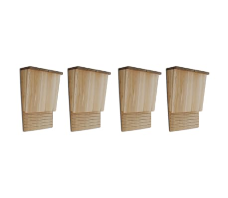 vidaXL Bat Houses 4 pcs 22x12x34 cm Wood