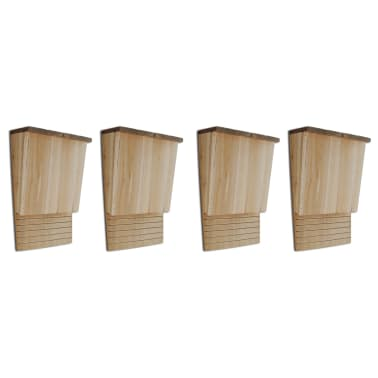 "vidaXL Bat Houses 4 pcs 8.7""x4.7""x13.4"" Wood[1/5]"