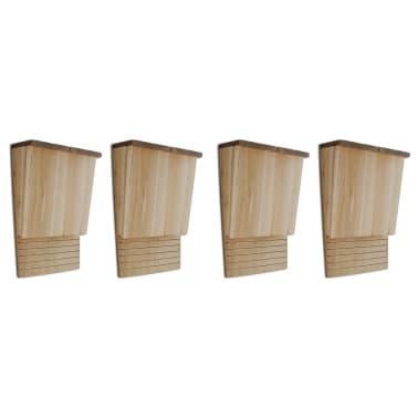 vidaXL Vleermuizenkasten 4 st 22x12x34 cm hout[1/5]