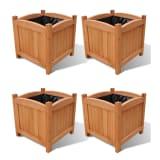 vidaXL Raised Beds 4 pcs 30x30x30 cm