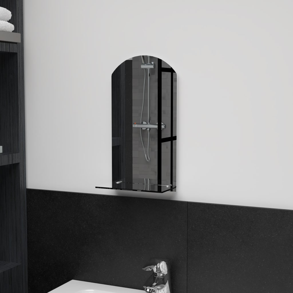 vidaXL Nástěnné zrcadlo s policí 20 x 40 cm tvrzené sklo