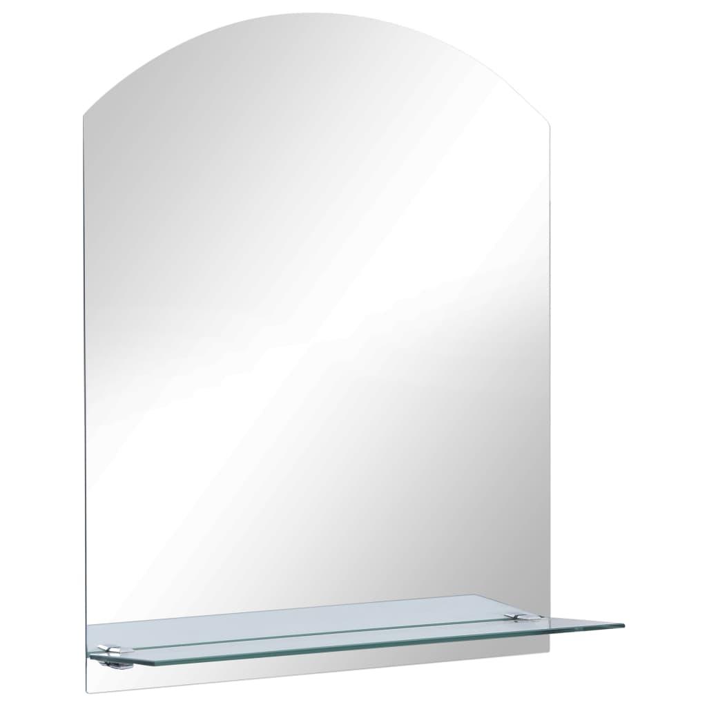 vidaXL Καθρέφτης Τοίχου 30 x 50 εκ. από Ψημένο Γυαλί με Ράφι