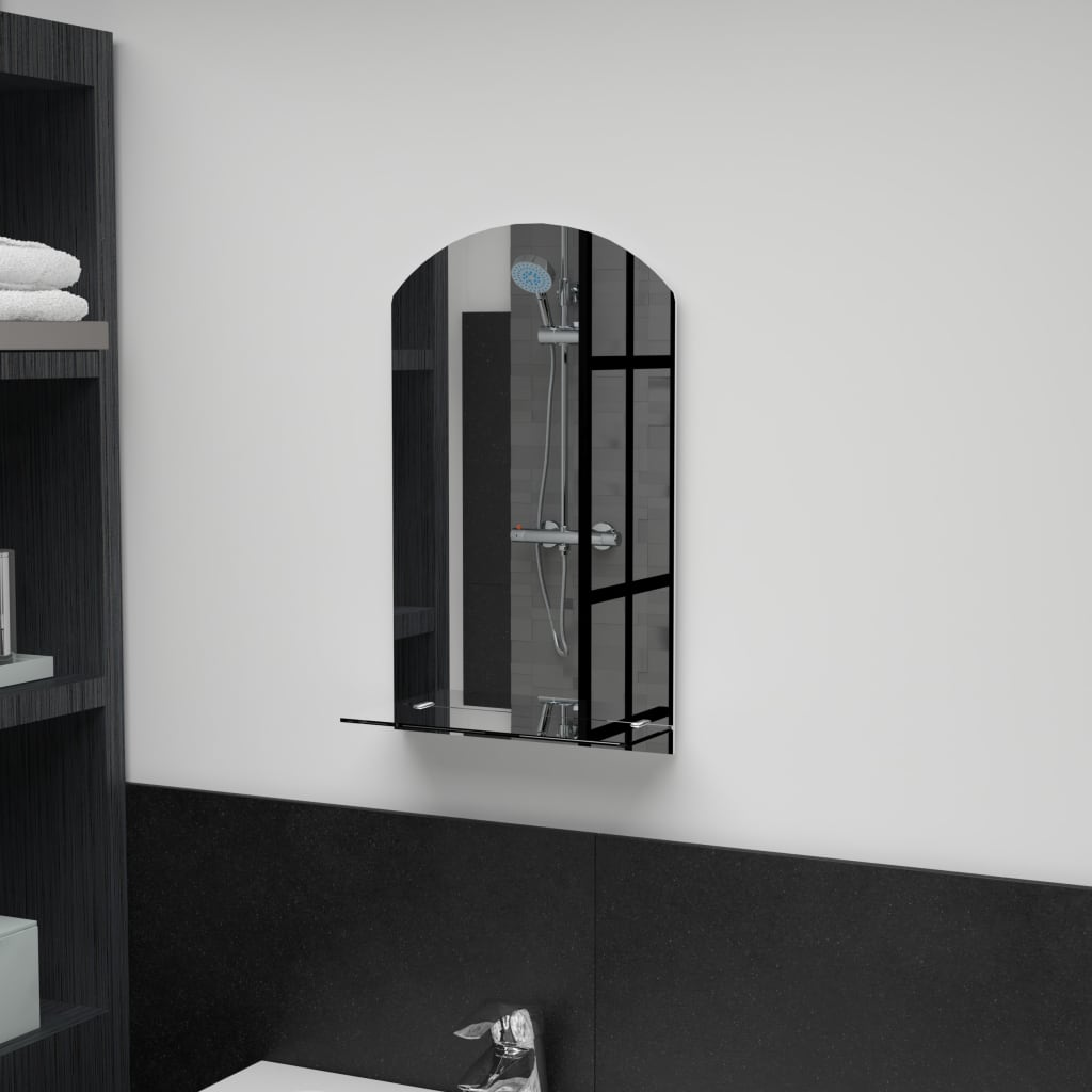 vidaXL Nástěnné zrcadlo s policí 30 x 50 cm tvrzené sklo