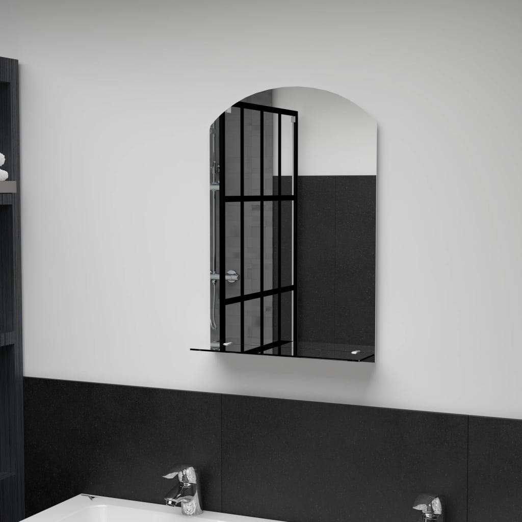 vidaXL Oglindă de perete cu raft, 40 x 60 cm, sticlă securizată poza vidaxl.ro