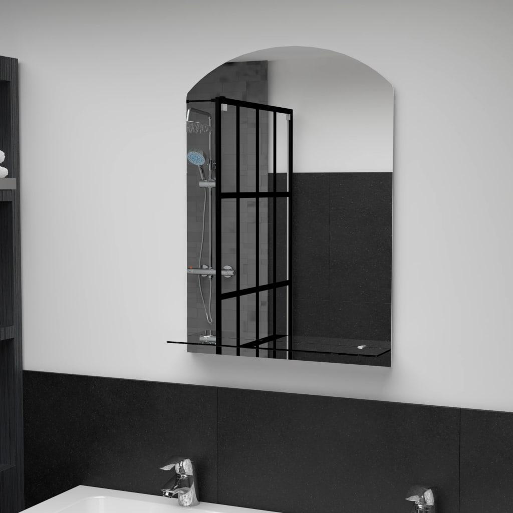 vidaXL Nástěnné zrcadlo s policí 50 x 70 cm tvrzené sklo