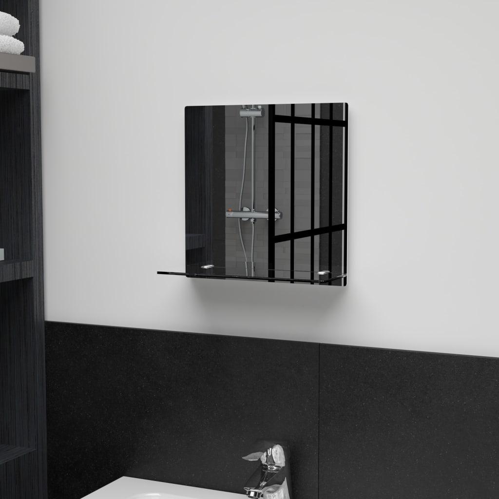 vidaXL Oglindă de perete cu raft, 30 x 30 cm, sticlă securizată poza 2021 vidaXL