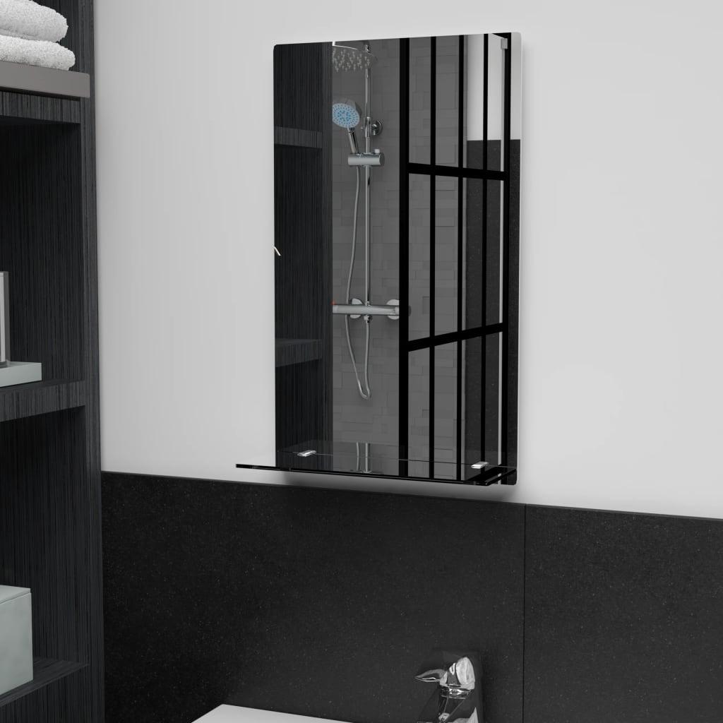 Nástěnné zrcadlo s policí 30 x 50 cm tvrzené sklo