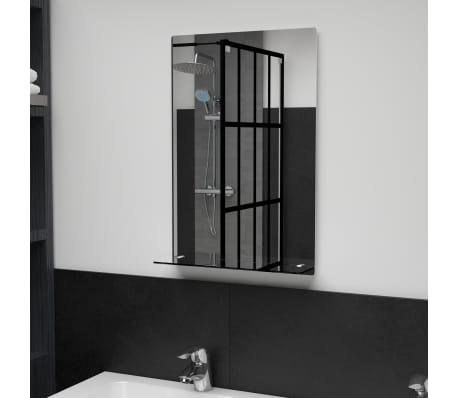 Vidaxl Wall Mirror With Shelf 40x60 Cm, Bathroom Mirror 40 X 60