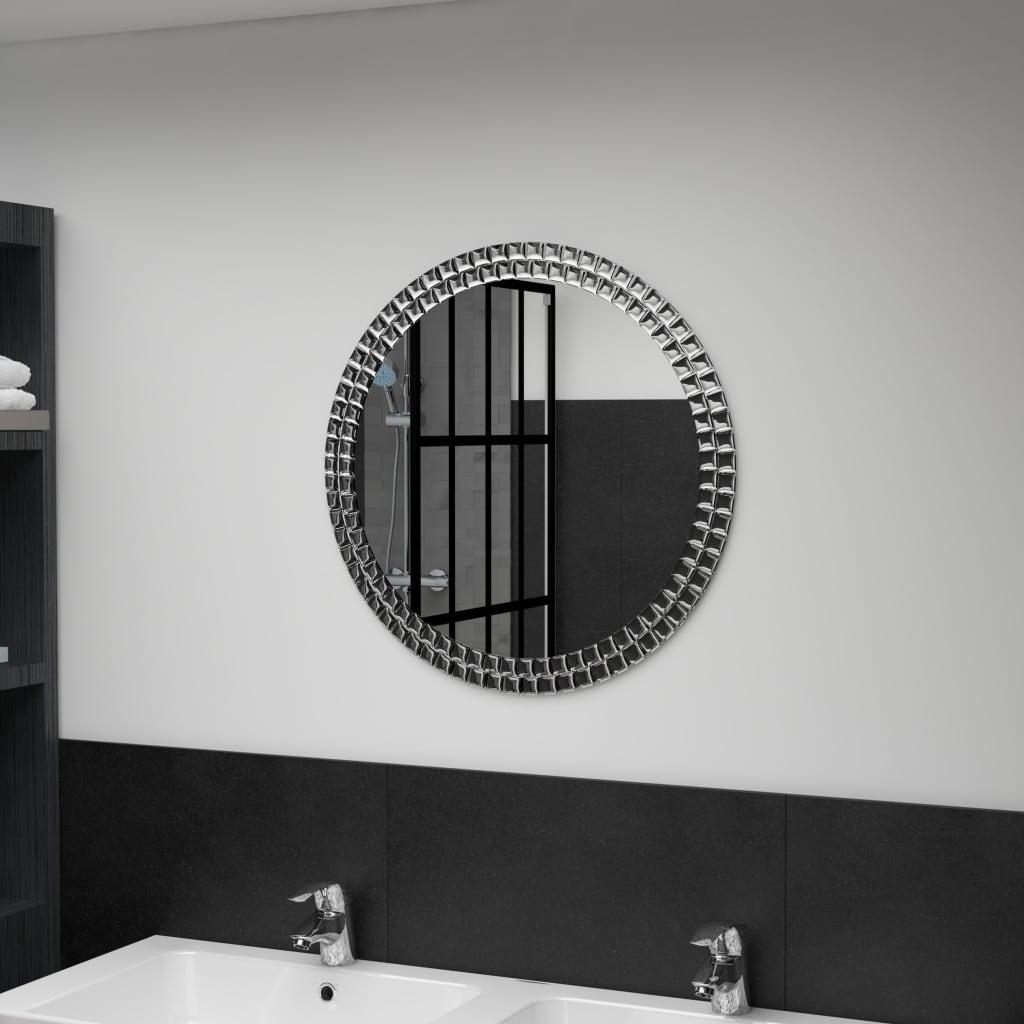 vidaXL Lustro ścienne, 60 cm, szkło hartowane